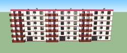 پروژه آماده سه بعدی مجتمع مسکونی در اسکچاپ SKETCHUP